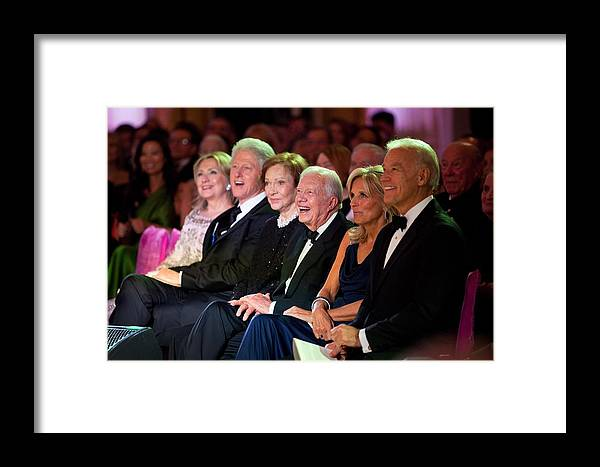 History Framed Print featuring the photograph Former Presidents Bill Clinton by Everett
