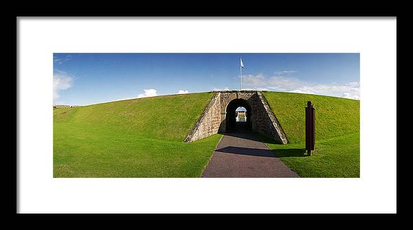 Defense Framed Print featuring the photograph Fort George Port by Jan W Faul