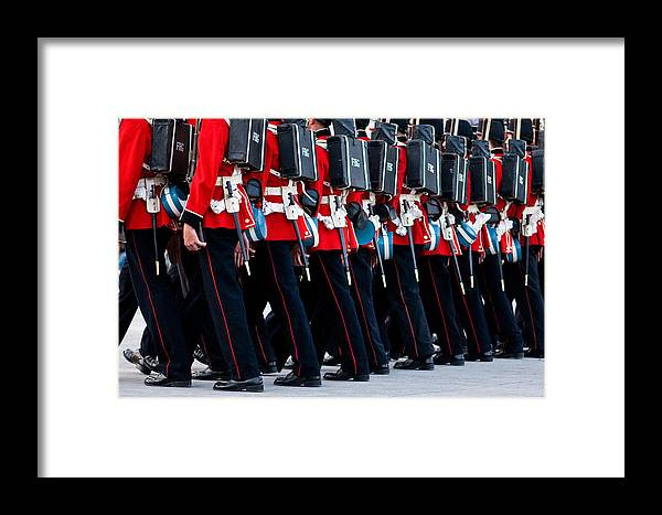 Fort Henry Framed Print featuring the photograph Fort Henry Guards Marching by Nicole Couture-Lord