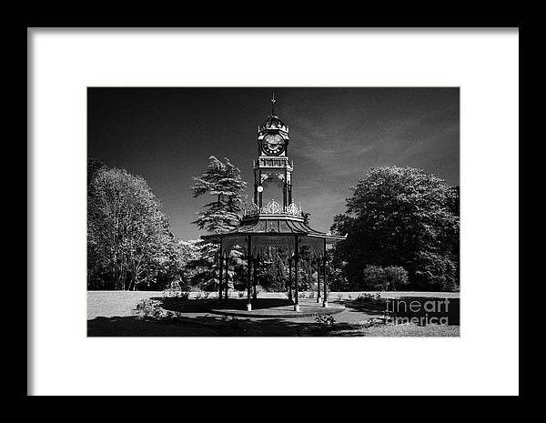 Northern Ireland Framed Print featuring the photograph Forthill Park Bandstand Enniskillen County Fermanagh Ireland by Joe Fox