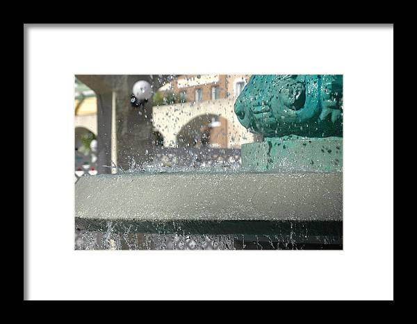 Fountain Framed Print featuring the photograph Fountain 1 by Susie Carr