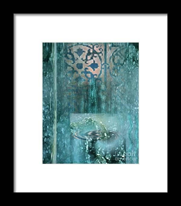 Psalm 36 Framed Print featuring the digital art Fountain Of Life by Brigetta Margarietta