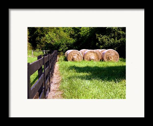 Hay Framed Print featuring the photograph Four Corners by Karen Wiles
