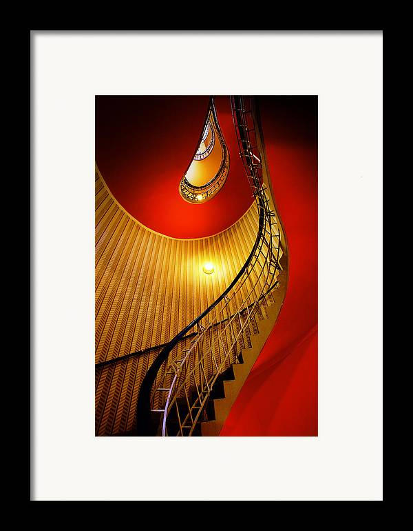 Staircase Framed Print featuring the photograph Four Flights by John Galbo