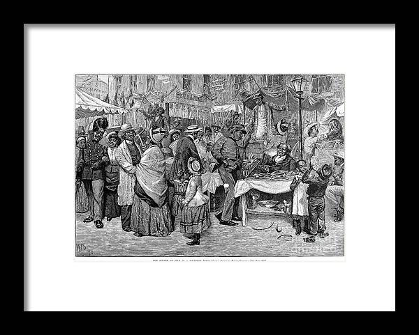 1888 Framed Print featuring the photograph Fourth Of July, 1888 by Granger