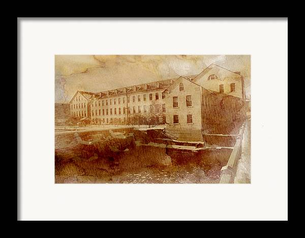 Fox River Mills Framed Print featuring the photograph Fox River Mills by Joel Witmeyer