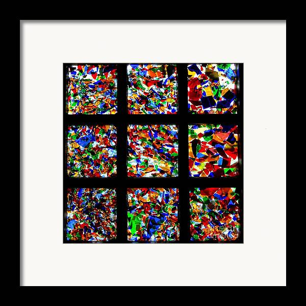 Square Framed Print featuring the photograph Fractured Squares by Meandering Photography