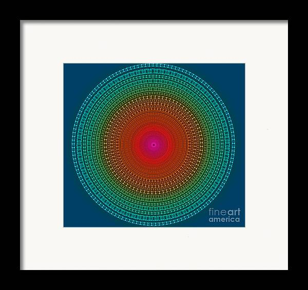 Abstract Framed Print featuring the digital art Fragile And Warm by Atiketta Sangasaeng