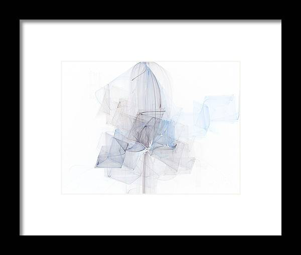 Blue Framed Print featuring the painting Fragile Blue Essence by Vicki Lynn Sodora