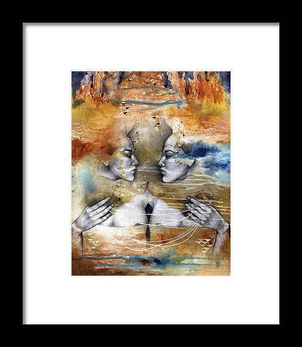 Acrylics Framed Print featuring the painting Fragmented by Patricia Ariel