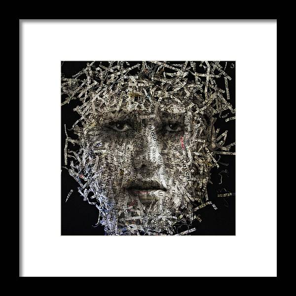 Photo Framed Print featuring the digital art Fragments by Aref Nammari