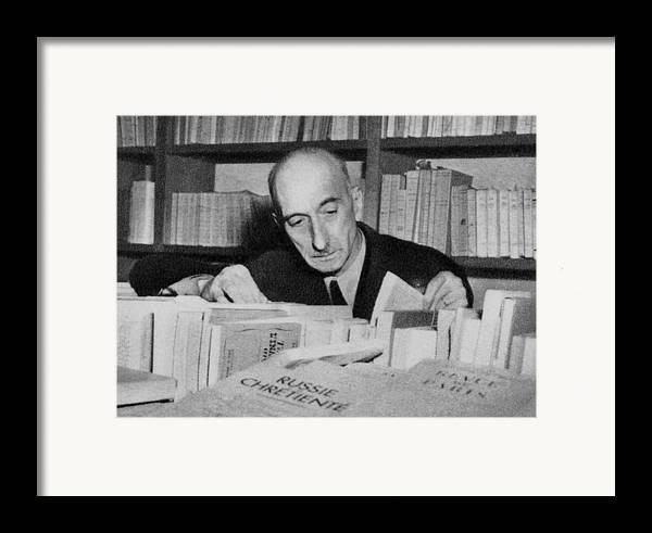 2008-2 Framed Print featuring the photograph Fran�ois Mauriac 1885-1970 Winner by Everett