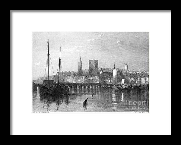 1835 Framed Print featuring the photograph France: Beaugency by Granger