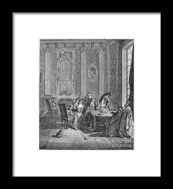 18th Century Framed Print featuring the photograph France: Gambling, C1750 by Granger