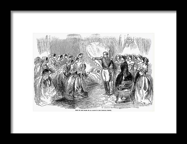 1856 Framed Print featuring the photograph France: Imperial Prince by Granger