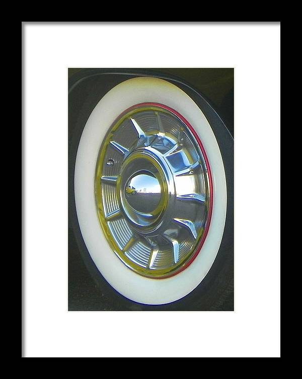 Wheels Framed Print featuring the photograph Frankie's 50 Merc by Chuck Re