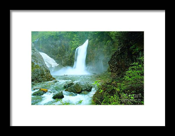 Water. Waterfalls. Streams Framed Print featuring the photograph Franklin Falls  by Jeff Swan