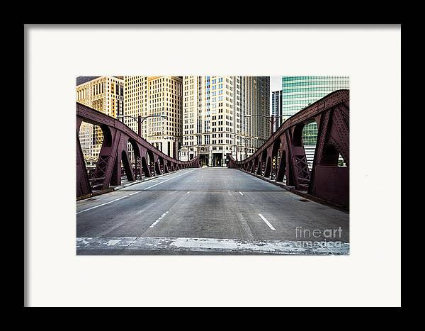 America Framed Print featuring the photograph Franklin Orleans Street Bridge Chicago Loop by Paul Velgos