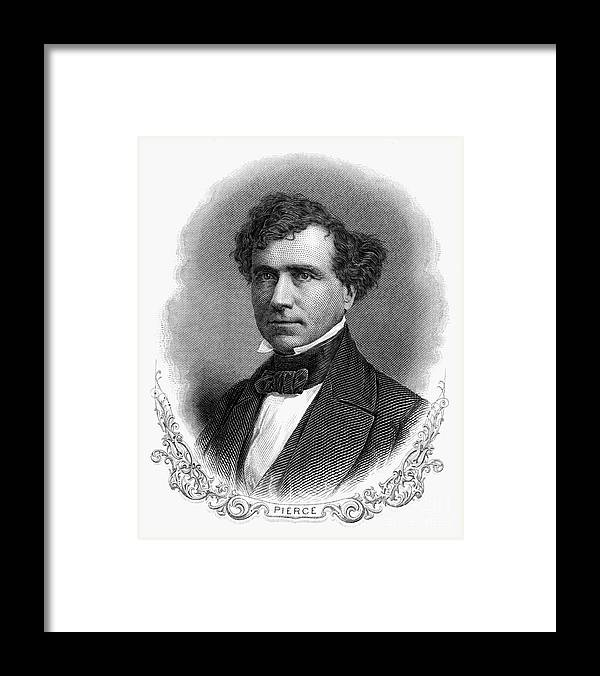 19th Century Framed Print featuring the photograph Franklin Pierce (1804-1869) by Granger