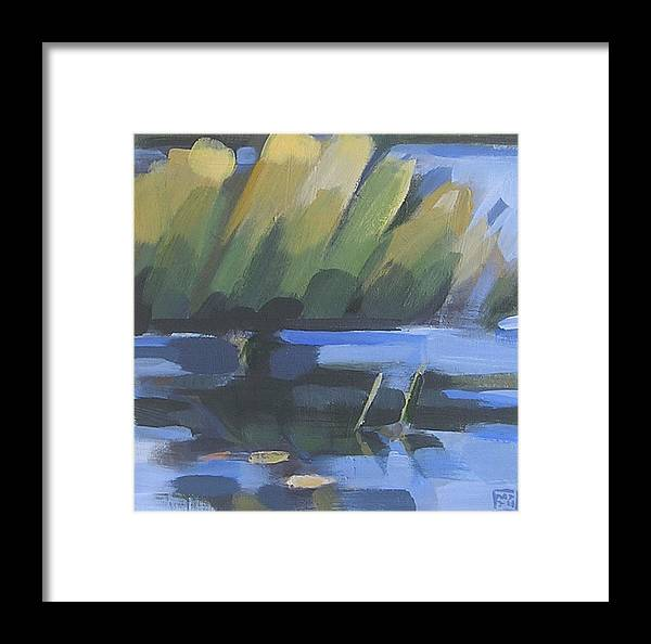 Water Framed Print featuring the painting Fran's Cove by Mary Brooking