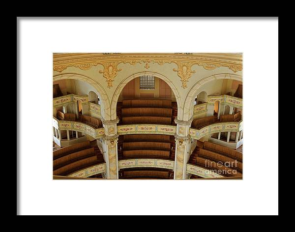 Architecture Framed Print featuring the photograph Frauenkirche Interior by Katja Zuske
