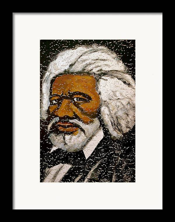 Slave Framed Print featuring the painting Frederick Douglas by Pete Maier