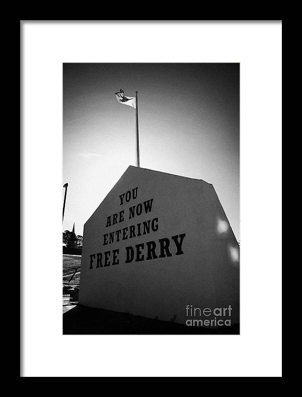 Bogside Framed Print featuring the photograph Free Derry Corner Bogside Ireland by Joe Fox