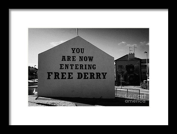 Bogside Framed Print featuring the photograph Free Derry Corner Northern Ireland by Joe Fox