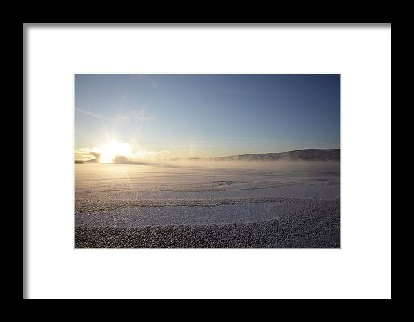 River Framed Print featuring the photograph Freezing River by Ulrich Kunst And Bettina Scheidulin