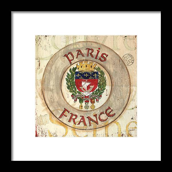 Paris Framed Print featuring the painting French Coat of Arms by Debbie DeWitt