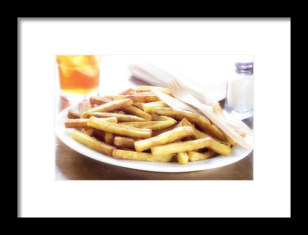 Fried Food Framed Print featuring the photograph French Fries by Federico Arce