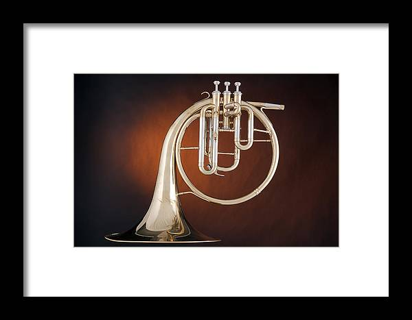 Classic Antique French Horn Music Instrument 3021 02 Framed Print