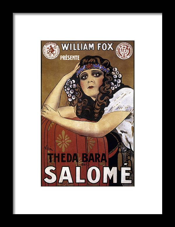 -nec02- Framed Print featuring the photograph French Poster: Salome, 1918 by Granger