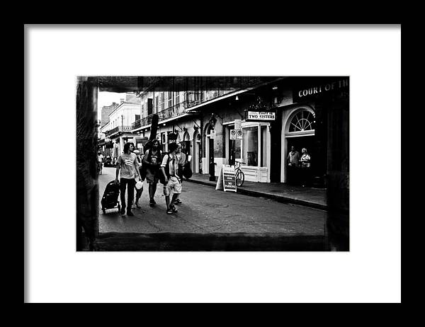 New Orleans Framed Print featuring the photograph French Quarter Commute by Linda Kish