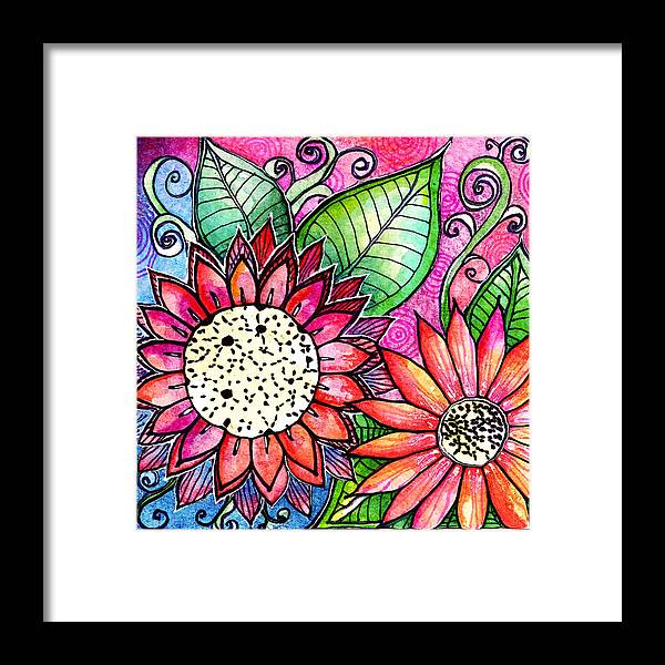 Flowers Framed Print featuring the painting Fresch Cut by Robin Mead
