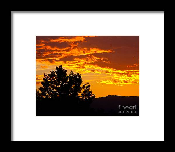 Sunset Framed Print featuring the photograph Friday Night Lights by Dana Kern