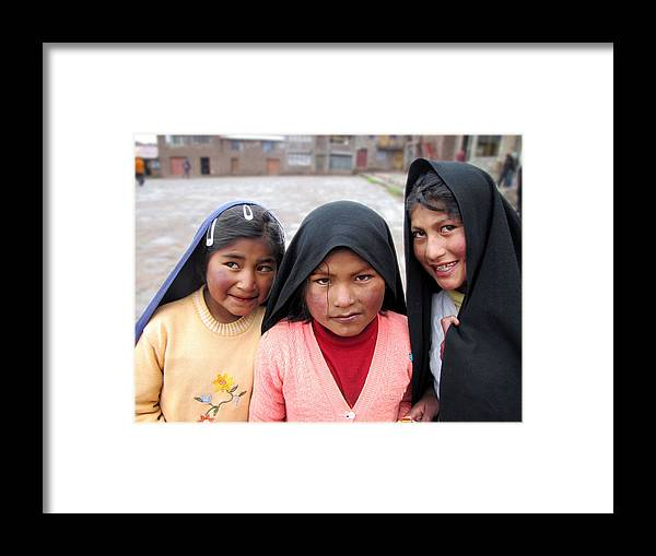 Peru Framed Print featuring the photograph Friends by Karin De oliveira