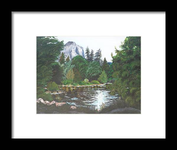 Yosemite Framed Print featuring the painting Frog's Eye View by Travis Day