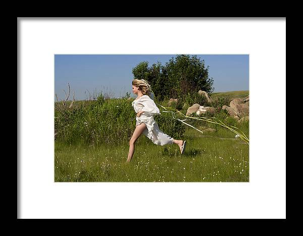 Girl Framed Print featuring the photograph Frolic by Waywardimages Waywardimages