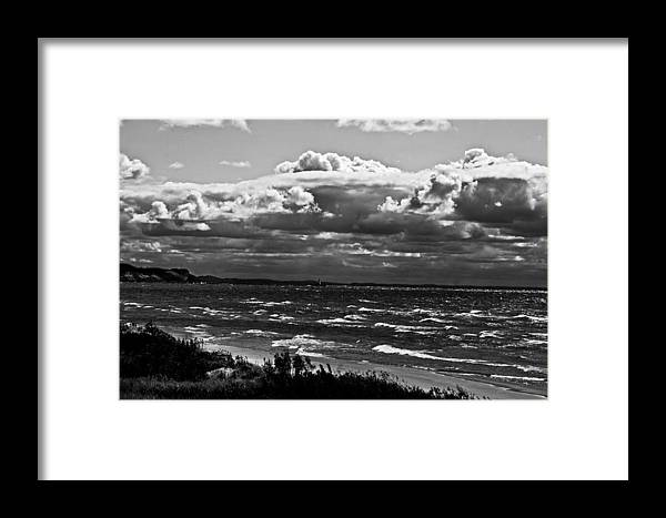 Lighthouse Framed Print featuring the photograph From The Beach by Randall Cogle