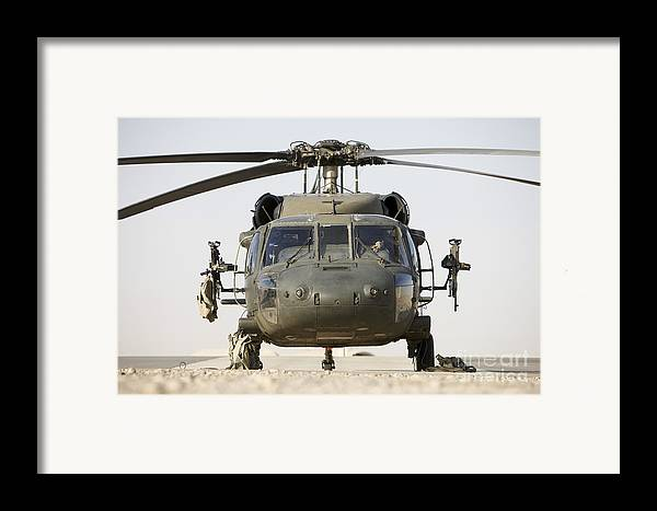 Aviation Framed Print featuring the photograph Front View Of A Uh-60l Black Hawk by Terry Moore