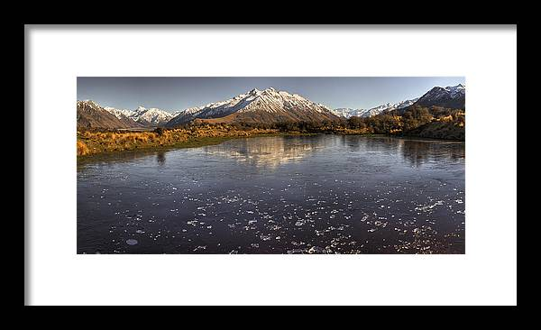 Hhh Framed Print featuring the photograph Frozen Tarn Near Mt Potts Station by Colin Monteath