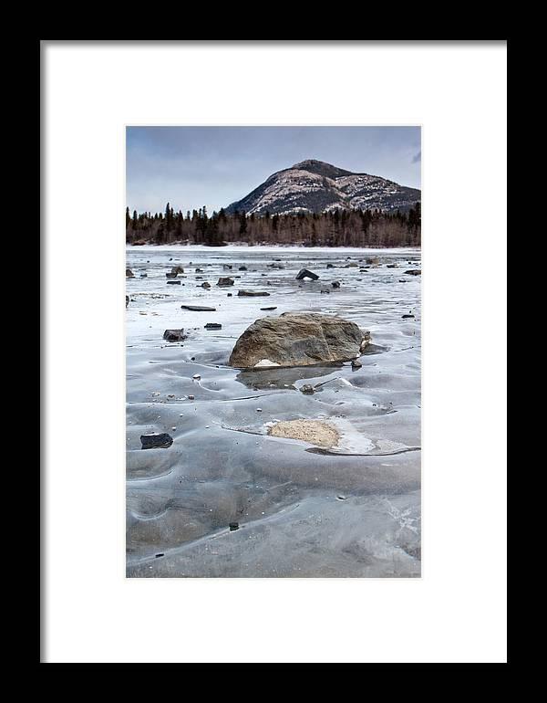 Rocky Framed Print featuring the photograph Frozen Waves by Jill Lassaline