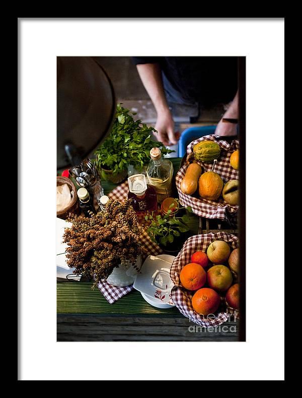 Fruit Framed Print featuring the photograph Fruit Arrangement by Sanyi Kumar