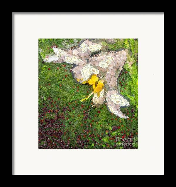 Odon Framed Print featuring the painting Fruit Lily by Odon Czintos