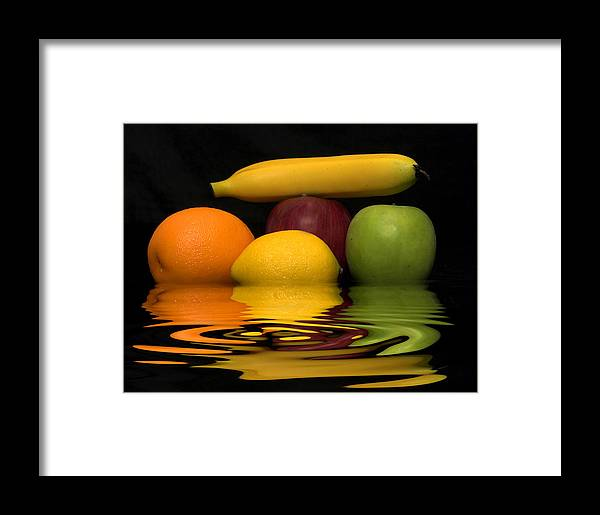 Fruit Framed Print featuring the photograph Fruity Reflections by Cindy Haggerty
