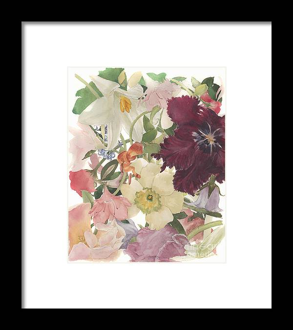 Floral Framed Print featuring the painting Full Bloom #1 by Betsy Bailey