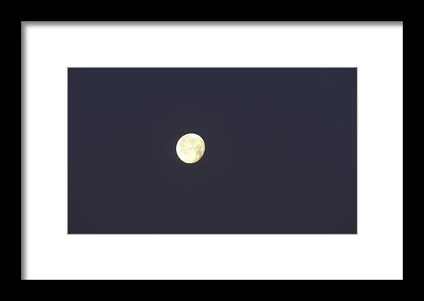 Full Moon Framed Print featuring the photograph Full Moon by Jessica Cruz