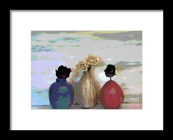 Photo Framed Print featuring the photograph Funky Flowers by Marsha Heiken