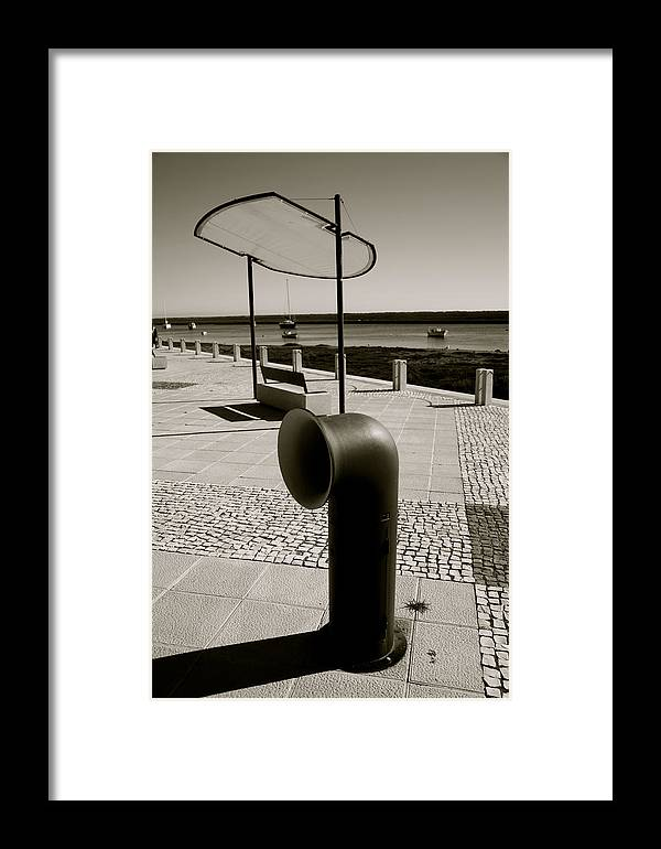 Jezcself Framed Print featuring the photograph Funnel Trash by Jez C Self